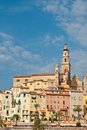 View of old town, Menton, France Royalty Free Stock Photos