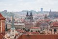 View of Old Town and Prague city center Royalty Free Stock Photo