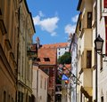 View from Bratislava old town to the castle
