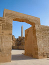 View of one of the obelisks at karnak temple in luxor Stock Photo