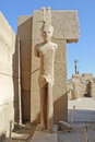 View of one of the statue at karnak temple in luxor Royalty Free Stock Photo