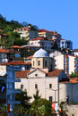 View of ordu city turkey is a port on the black sea coast and the capital province Stock Image