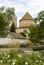 View at Ottmarsheim abbey church in France Stock Images