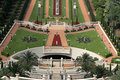 View over bahai gardens Royalty Free Stock Images