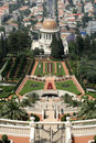 View over bahai gardens haifa Royalty Free Stock Photography