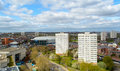 View Over Birmingham with Tower Blocks and Barclaycard Arena Royalty Free Stock Photo