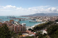View over the city of malaga andalusia spain Royalty Free Stock Image