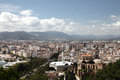 View over the city of malaga andalusia spain Royalty Free Stock Images