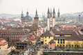 View over the city of wuerzburg germany april germany on april historic is years old foto taken from Stock Photo