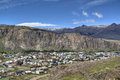 View over El Chalten, Argentina Stock Photography