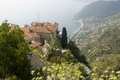 View over eze, cote d'azur Royalty Free Stock Image
