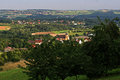 View over german village in summer Royalty Free Stock Photo