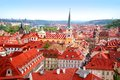 View over historic center of prague with castle czech republic Royalty Free Stock Photos