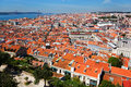 View over the houses of lisbon roofs portugal Royalty Free Stock Images