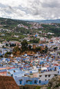 View over the Kasbah of Chefchaouen, Morocco Royalty Free Stock Photo