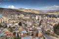 View over la paz the city of bolivia Stock Photography