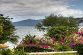 View over lake Apoyo near Granada, Nicaragua Royalty Free Stock Photo