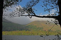 View over lake loweswater to burnbank fell lake district cumbria looking in the Royalty Free Stock Photography