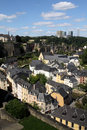 The view over Luxembourg Stock Photography
