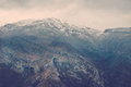 View over misty montain rock in the moraca river canyon in north montenegro balkan peninsula winter Royalty Free Stock Photos