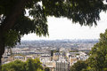View over Paris from Montmartre Royalty Free Stock Photo