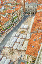 View over piazza delle erbe market s square verona italy Stock Photo