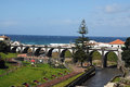 View over ribeira grande azores islands portugal Stock Image