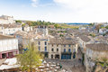 View over roofs st emilion bordeaux france Stock Photos