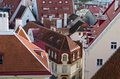 View over the rooftops of tallinn close up Stock Image