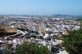 View over rooftops, Velez Malaga, Spain. Royalty Free Stock Photo