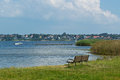 view over the Roskilde fjord Royalty Free Stock Photo