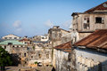 View over stone town old derelict building in zanzibar Royalty Free Stock Photography