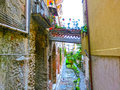 View over the street in Taormina, Sicily, Italy, Europe Royalty Free Stock Photo