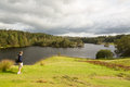View over Tarn Hows in English Lake District Royalty Free Stock Image