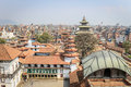 View over temples in durbar square kathmandu nepal march s houses the royal palace and many historic and buildings it s a unesco Royalty Free Stock Image