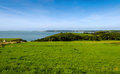 View over tenby and caldey island wales united kingdom in Stock Image