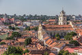 View over vilnius old town from gediminas hill Royalty Free Stock Photo