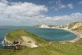 View over worbarrow bay dorset on coast Stock Photography