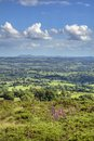 View over worcestershire from clee hill landscape england Royalty Free Stock Image