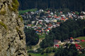 View Overlooking Busteni Village, Romania Stock Image