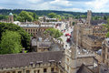 View of Oxford from above Royalty Free Stock Photography