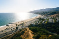 View of the Pacific Ocean in Pacific Palisades, California. Royalty Free Stock Photo