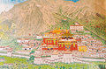 View painting at Ramtek Monastry in Gungtok Stock Photography
