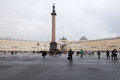View of the Palace square in St. Petersburg. Spring. Russia. Royalty Free Stock Photo