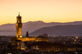 View of the Palazzo Vecchio in Florence in Italy Royalty Free Stock Photo