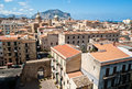 View of palermo with old houses and monuments sicily italy Stock Images