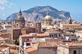 View of palermo with old houses and monuments sicily italy Royalty Free Stock Photography