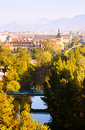 View of pamplona with arga river navarre Stock Images