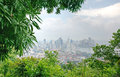 View of Panama city from Ancon hill Stock Photos