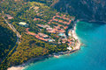 View from parachute on hotel fethiye turkey Stock Image